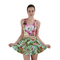 Tropical Flowers Mini Skirt by goljakoff