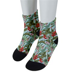 Tropical Flowers Men s Low Cut Socks