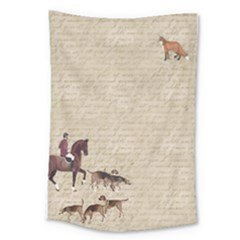 Foxhunt Horse And Hound Large Tapestry