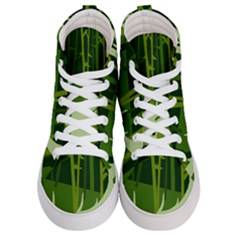 Forest Deer Tree Green Nature Women s Hi-top Skate Sneakers