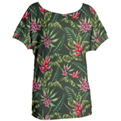 Tropical Flowers Women s Oversized Tee by goljakoff