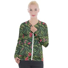 Tropical Flowers Casual Zip Up Jacket by goljakoff