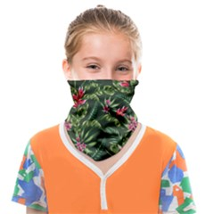 Tropical Flowers Face Covering Bandana (kids) by goljakoff