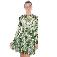 Green Leaves Long Sleeve Panel Dress by goljakoff