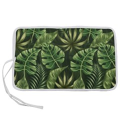 Green Leaves Pen Storage Case (l) by goljakoff