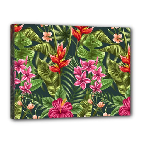 Tropical Flowers Canvas 16  X 12  (stretched) by goljakoff