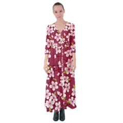 Sakura Button Up Maxi Dress