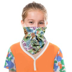 Peacock Pattern Face Covering Bandana (kids) by goljakoff