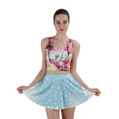 Flower Illustrations Mini Skirt