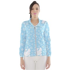 Flower Illustrations Women s Windbreaker