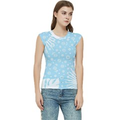Flower Illustrations Women s Raglan Cap Sleeve Tee