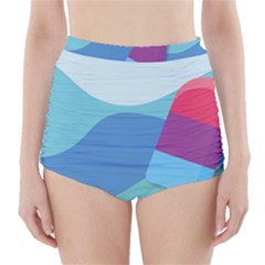 Ice Summer Beach Sea Dessert High-waisted Bikini Bottoms