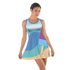 Ice Summer Beach Sea Dessert Cotton Racerback Dress