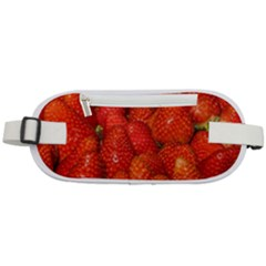 Colorful Strawberries At Market Display 1 Rounded Waist Pouch
