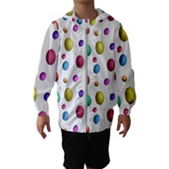 Egg Easter Texture Colorful Kids  Hooded Windbreaker