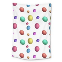 Egg Easter Texture Colorful Large Tapestry