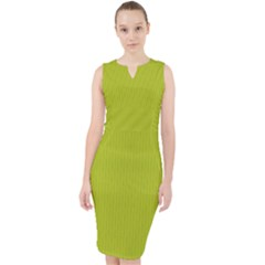 Acid Green - Midi Bodycon Dress by FashionLane
