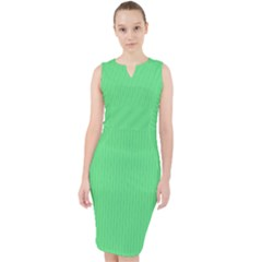 Algae Green - Midi Bodycon Dress by FashionLane