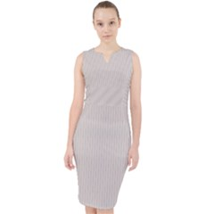 Abalone Grey - Midi Bodycon Dress by FashionLane