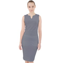 Steel Grey - Midi Bodycon Dress by FashionLane
