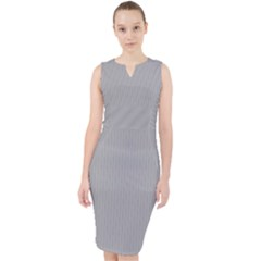 Chalice Silver Grey - Midi Bodycon Dress by FashionLane