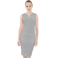 Silver Cloud Grey - Midi Bodycon Dress by FashionLane