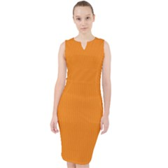 Apricot Orange - Midi Bodycon Dress by FashionLane