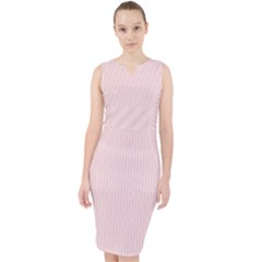 Soft Bubblegum Pink - Midi Bodycon Dress by FashionLane