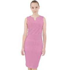 Amaranth Pink - Midi Bodycon Dress by FashionLane