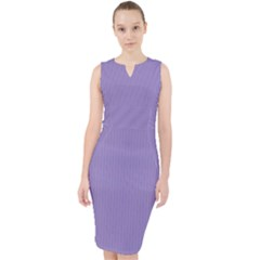 Bougain Villea Purple - Midi Bodycon Dress by FashionLane
