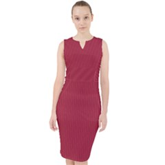 Vivid Burgundy - Midi Bodycon Dress by FashionLane