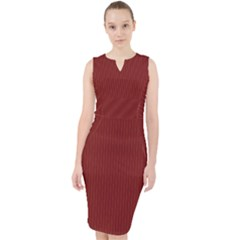 Berry Red - Midi Bodycon Dress by FashionLane