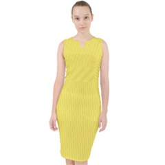 Maize Yellow - Midi Bodycon Dress by FashionLane