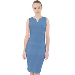 Air Force Blue - Midi Bodycon Dress by FashionLane