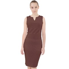 Emperador Brown - Midi Bodycon Dress by FashionLane