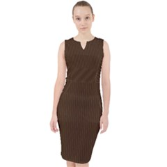 Brunette Brown - Midi Bodycon Dress by FashionLane