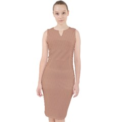 Antique Brass Brown ¨c Midi Bodycon Dress by FashionLane
