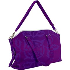 Cloister Advent Purple Canvas Crossbody Bag
