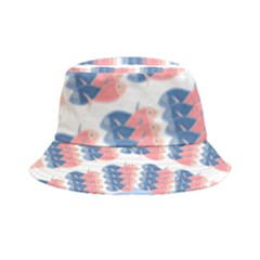 Fish Texture Rosa Blue Sea Inside Out Bucket Hat
