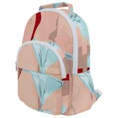 Woman Sexy Back View Panties Rounded Multi Pocket Backpack