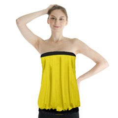 Bumblebee Yellow - Strapless Top by FashionLane