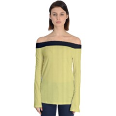 Harvest Gold - Off Shoulder Long Sleeve Top by FashionLane
