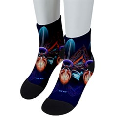 Fractal Flower Men s Low Cut Socks