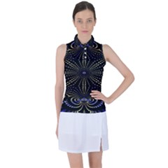 Fractal Mandale Women s Sleeveless Polo Tee