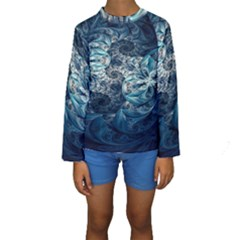 Fractal Swings Kids  Long Sleeve Swimwear