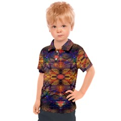 Fractal Flower Kids  Polo Tee