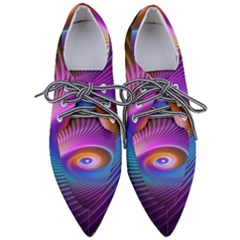 Fractal Illusion Pointed Oxford Shoes
