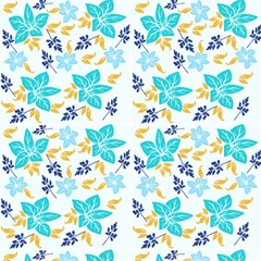 Blue Flower Paper Fabric by Aldona19