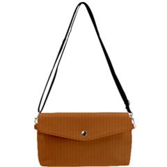 Bronze Orange - Removable Strap Clutch Bag