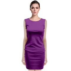 Dark Orchid - Sleeveless Velvet Midi Dress